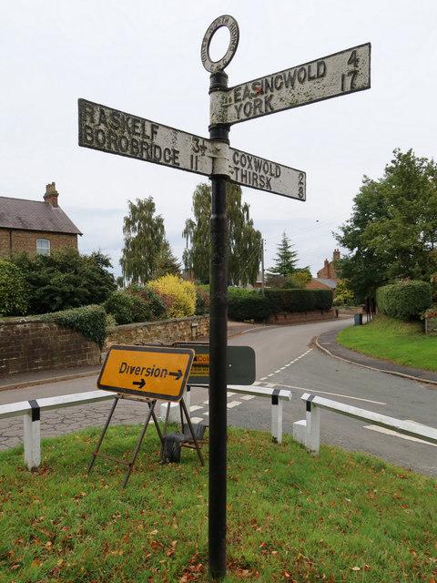 Fingerpost in Husthwaite, North Yorkshire