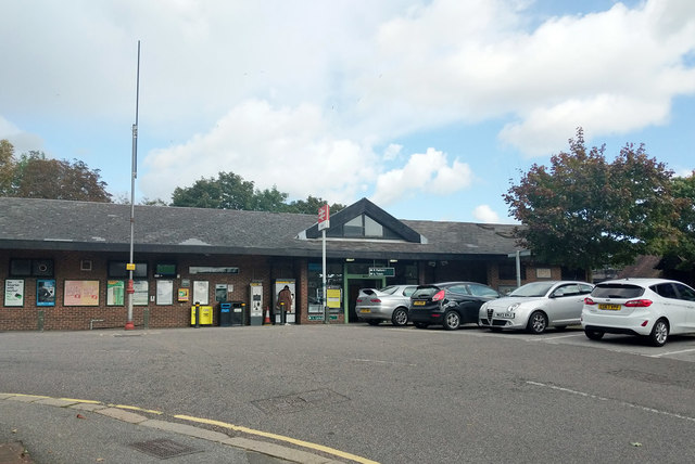 Oxted station, west side from street