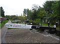 SO8986 : Stourbridge Canal - top gate of lock No. 9 by Chris Allen