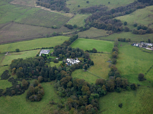 Hallhill House from the air