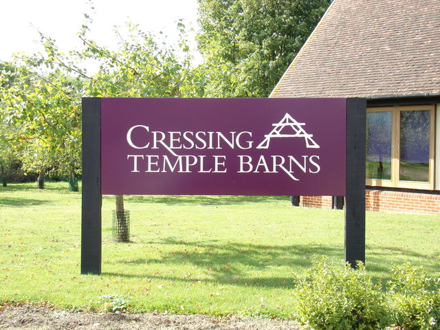 Cressing Temple Barns sign