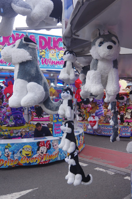 Hook-a-Duck and other stalls, Goose Fair