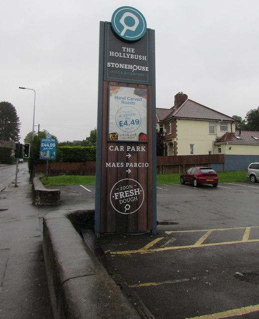 The Hollybush name sign, Cardiff