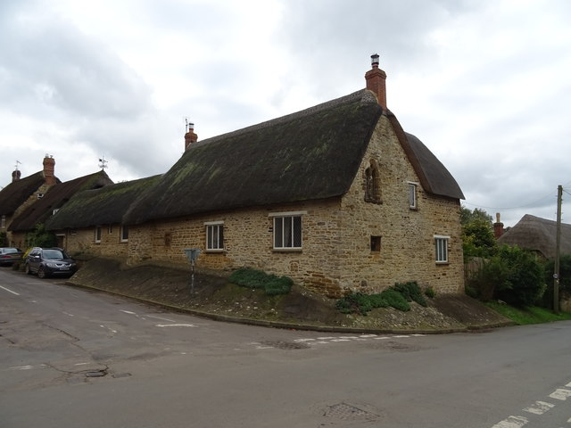 Thatched cottage on Main Street, Sibford Gower