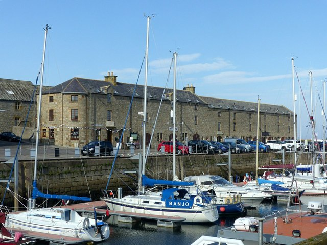 Lossiemouth harbour, former warehouses