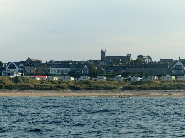 Hopeman seen from the sea