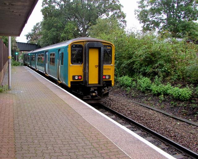 Coryton train arriving at Heath Low Level station, Cardiff