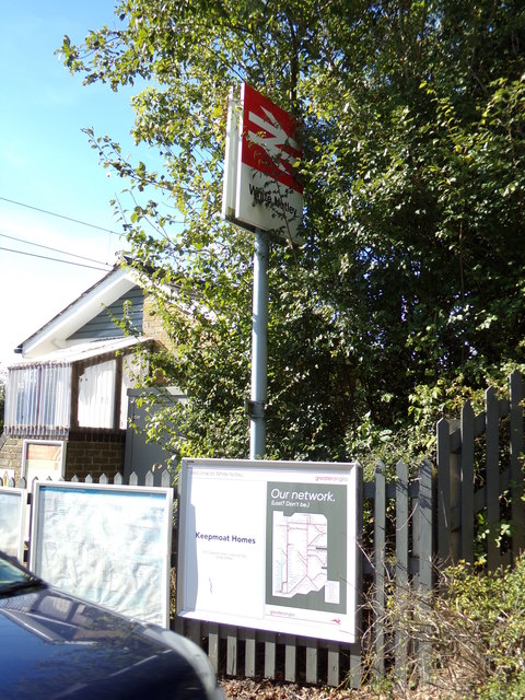 White Notley Railway Station sign