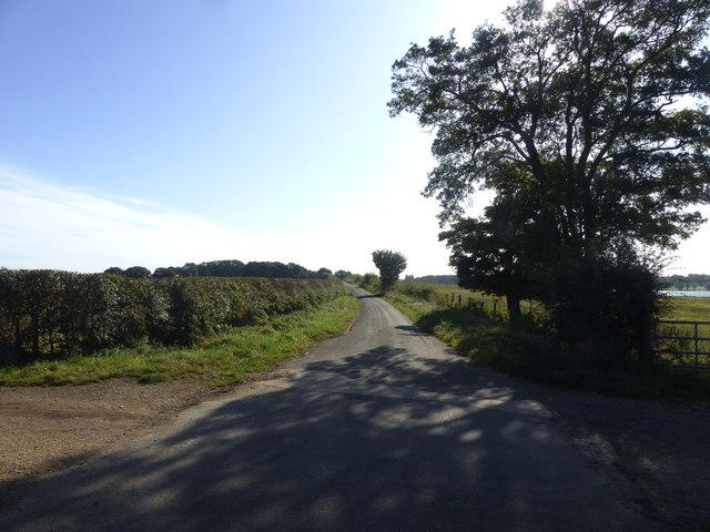 Lane to the end of the Hambleton Peninsula