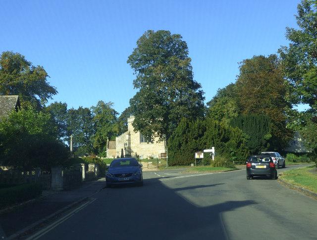 Junction near the church, Upper Hambleton