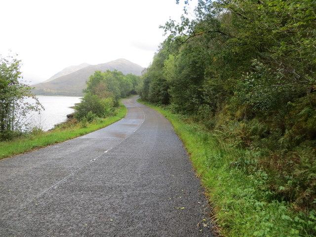 Road beside Loch Creran
