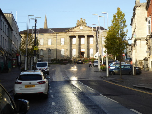 Sun reflections, High Street, Omagh