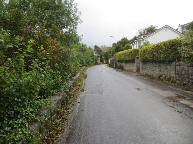 Road from A85 into Connel village centre