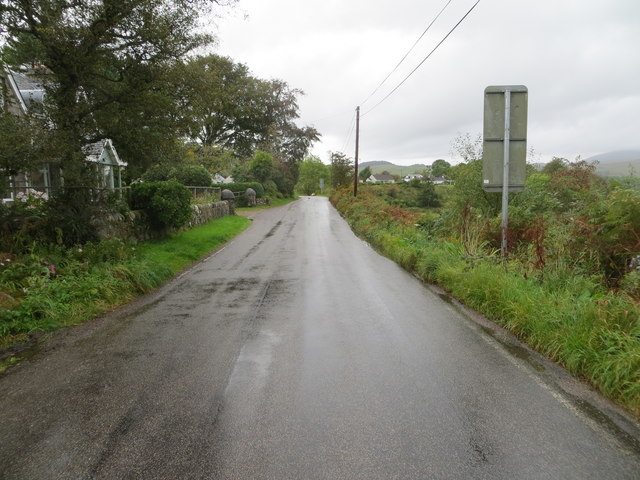 Minor road approaching Achnacree Bay
