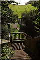 SX9575 : Steps on coast path from Teignmouth Road by Derek Harper