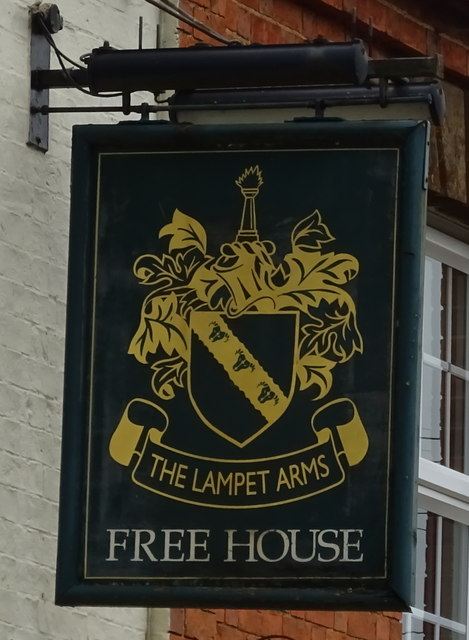 Sign for the Lampet Arms, Tadmarton