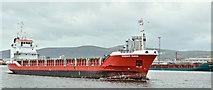 """J3576 : The """"Nordic Diana"""", Belfast harbour (October 2019) by Albert Bridge"""