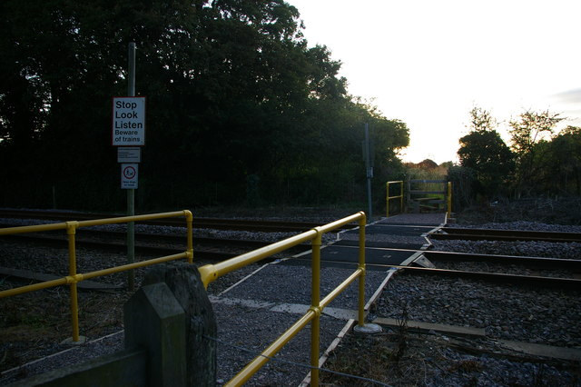Path over the railway at Saxmundham Junction