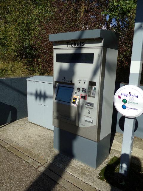 Ticket Machine at White Notley Railway Station