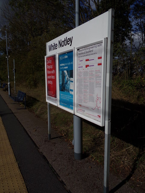 Sign at White Notley Railway Station