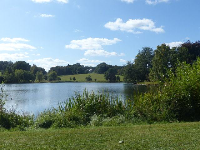 A view over the lake in Burghley Park