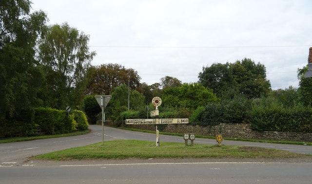 Road sign on the B4035, Lower Tadmarton