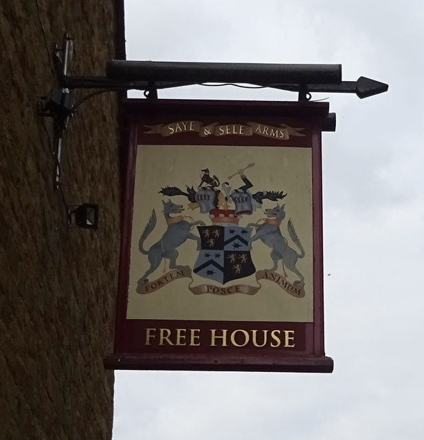 Sign for the Saye & Sele Arms, Broughton