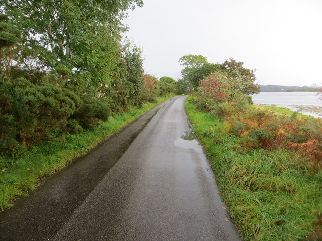 Road beside Loch Etive near to Inion