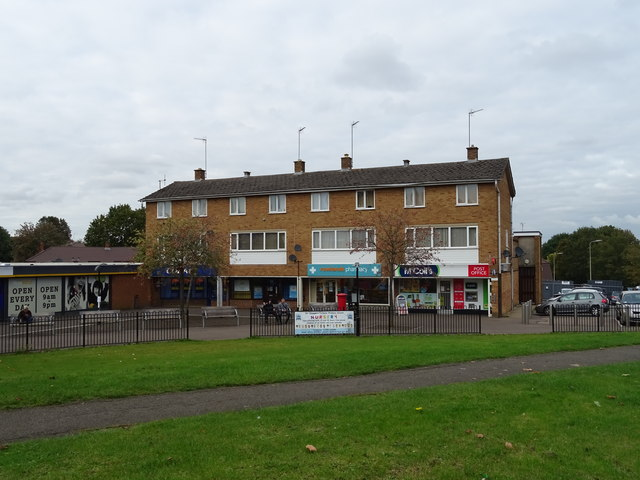 Post Office and shops off Orchard Way, Banbury