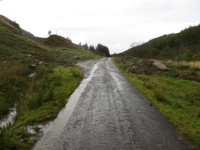 Road (B845) in Gleann Salach