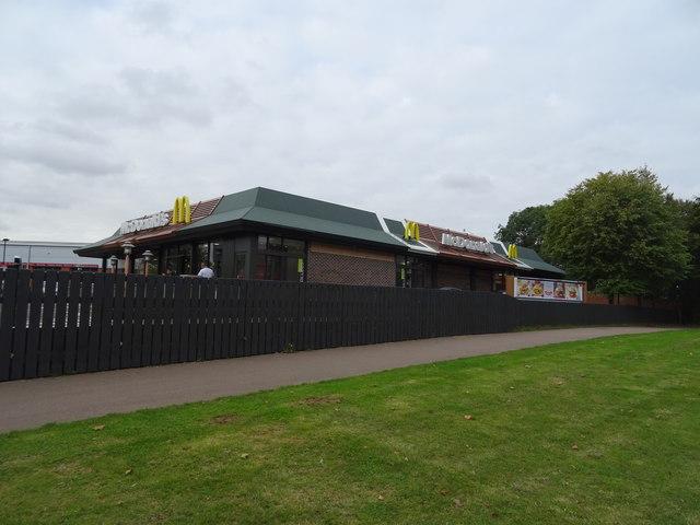 Mc Donald's Restaurant off Ruscote Avenue (A422), Banbury