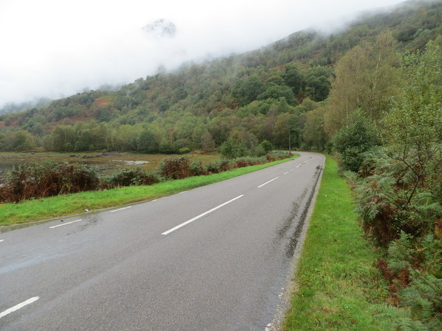 Road (B863) beside Loch Leven