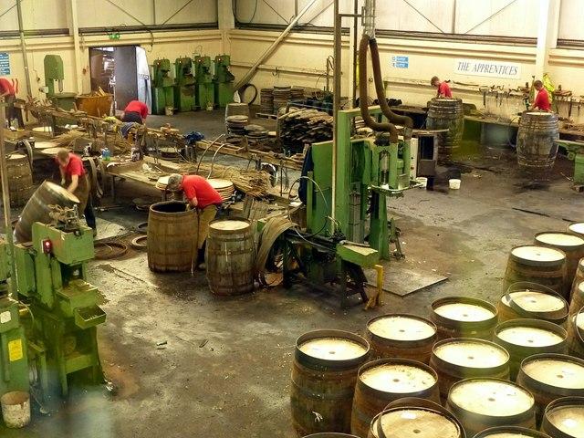 Speyside Cooperage, main workshop