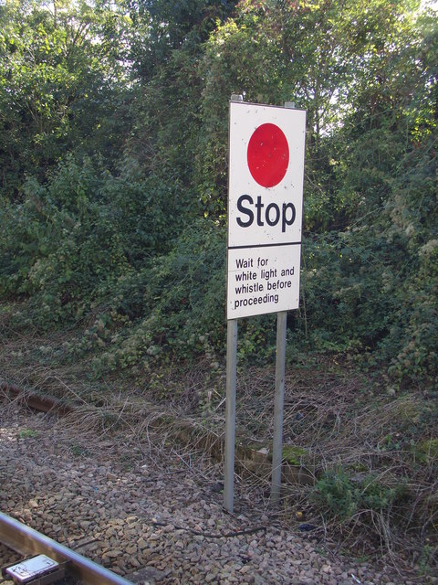 Stop sign at White Notley Railway Station