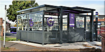 J3674 : Glider bicycle shelter, Holywood Arches, Belfast (October 2019) by Albert Bridge