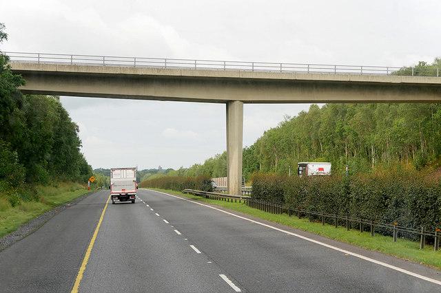 Bridge over the M7 near Hillsborough