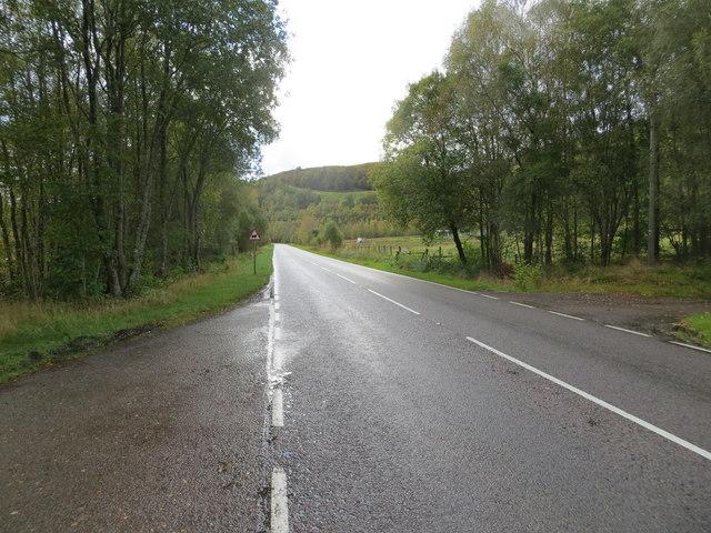 Road (A86) near to Murlaggan