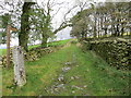 SD6479 : Wall enclosed footpath heading towards Brownthwaite Pike by Peter Wood