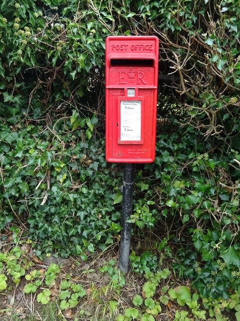 Elizabeth II postbox on Hawk's Lane, Burdrop