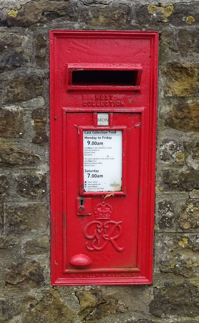 George VI postbox on Main Road, Broughton
