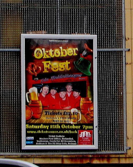 OktoberFest poster, Bedwas