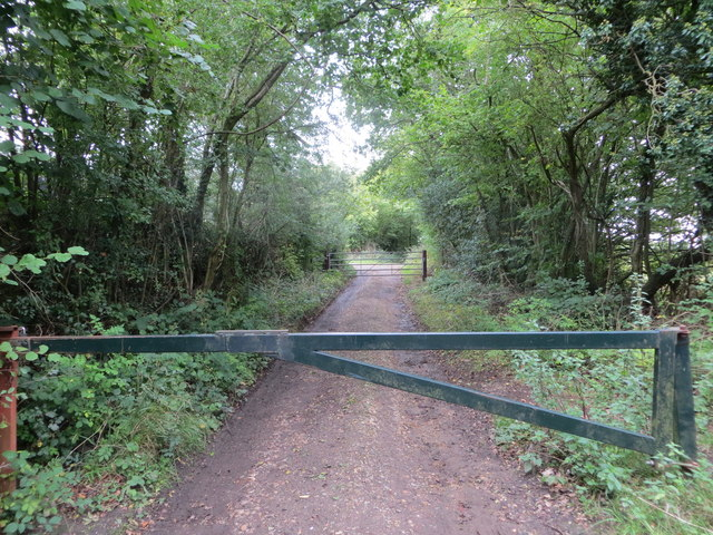 The doubly gated Timberley Lane track near to Kingsash