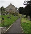 SO1073 : Path through St Cynllo's churchyard, Llanbister, Powys by Jaggery