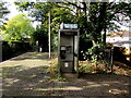 ST1580 : BT phonebox on Whitchurch (Cardiff) railway station by Jaggery
