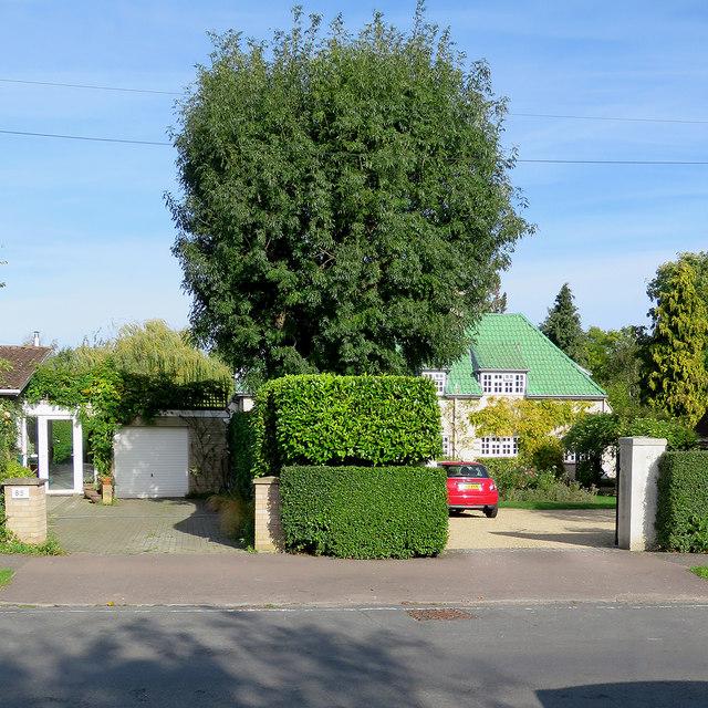 Green tiles on Holbrook Road
