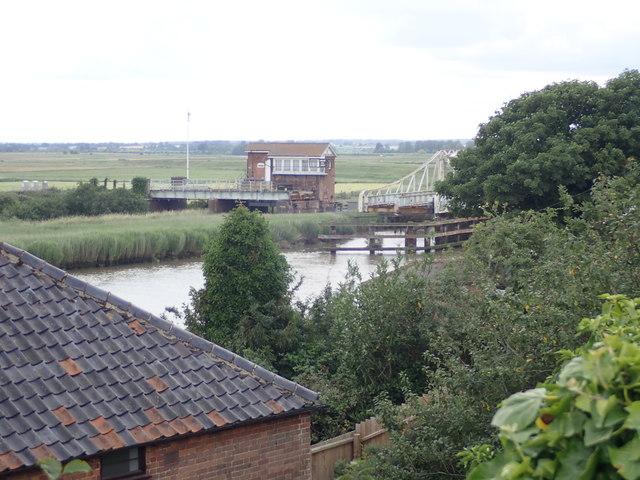Reedham Swing Bridge from the east