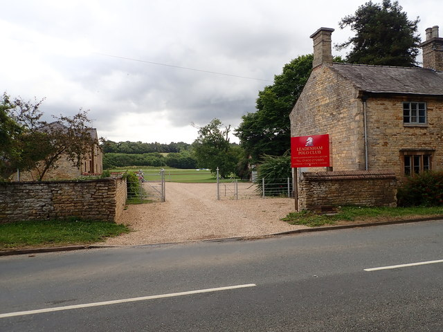 Entrance gate to Leadenham Polo Club