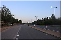 TL0252 : Layby on Paula Radcliffe Way, Clapham by David Howard