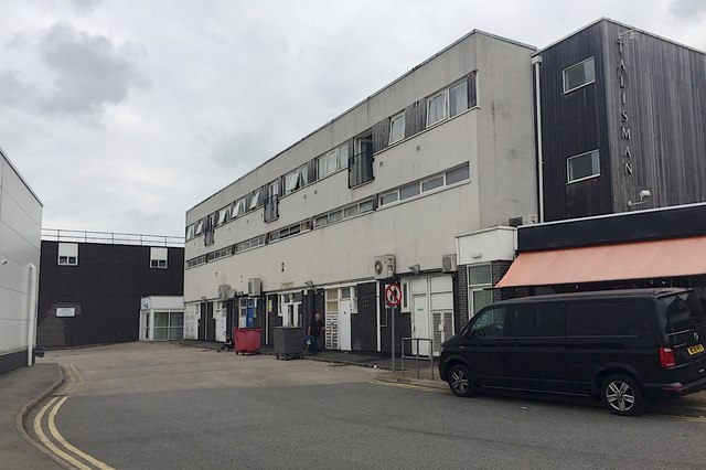 Rear of shops, south side of Talisman Square, Kenilworth