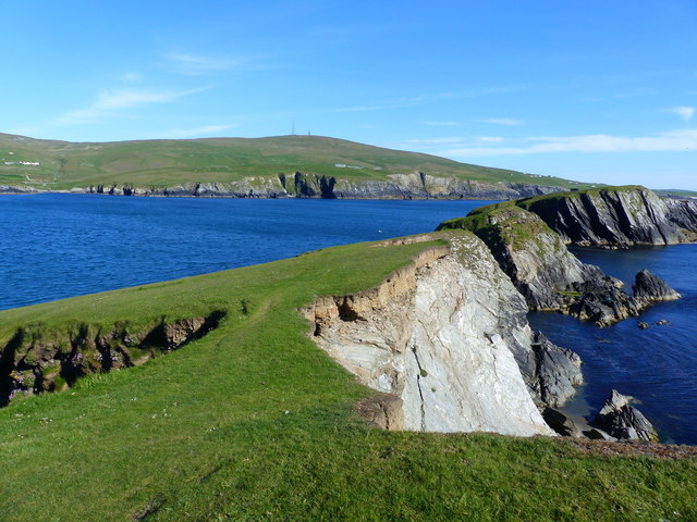 Promnontory and stacks at St. Ninian's Isle, Shetland